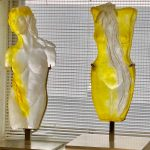 Golden Lily & Day Lily glass statue